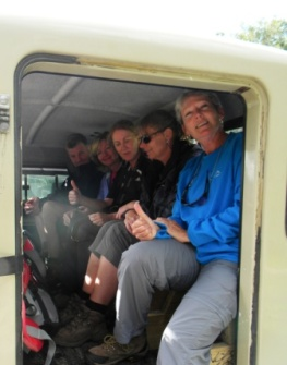 Day 1 of Otter Trail - we got a lift as there was a storm