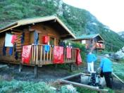 Drying our things after crossing The Lottering River