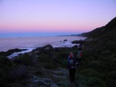 Early start on day 4 of Otter Trail
