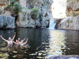 Cool and refreshing swim in Die Hell