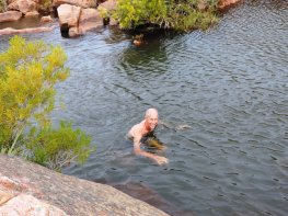 Only crazy people swim in the cold Maalgat Cederberg