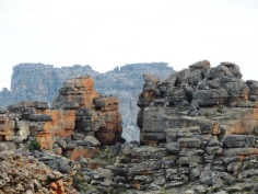 I wanted to do a panoramic from the top but the wind was so strong you had to hold on or get blown away.   Wolfberg Cracks. Cederberg