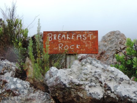 Boesmanskloof Hiking Trail - Breakfast Rock