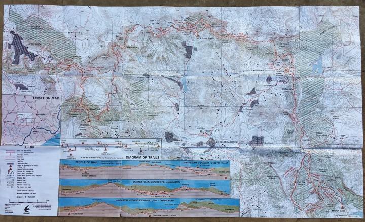 Amatola Hike Map
