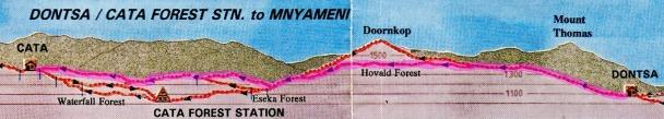 Amatola Hike Day 3 Map a