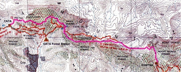 Amatola Hike Day 3 Map
