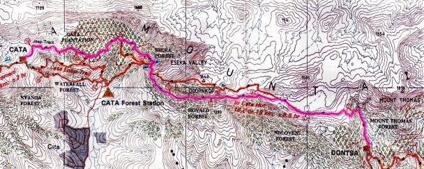 Amatola Hike Day 3 Map
