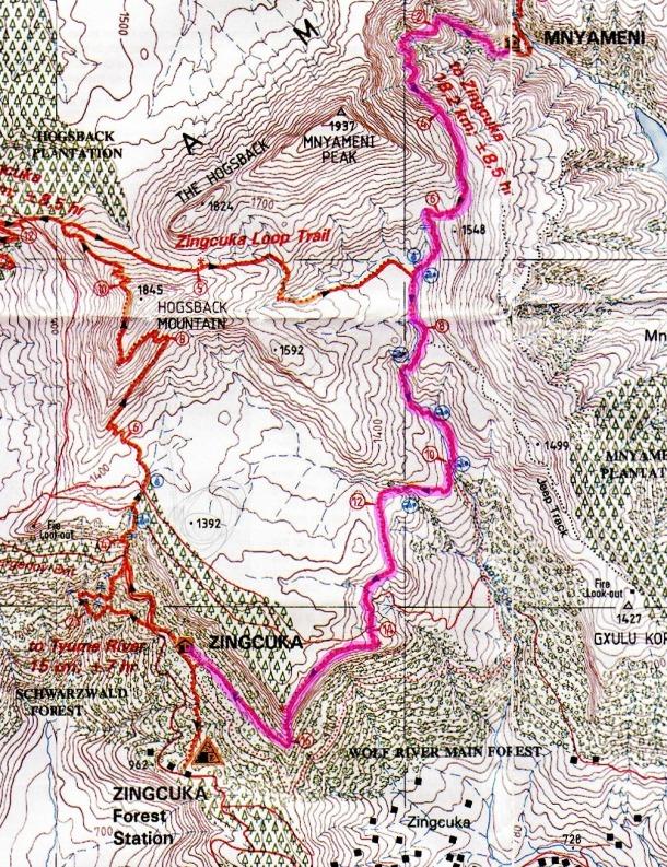 Amatola Hike Map Day 5 (2)
