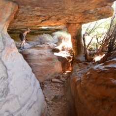 One of the small caves