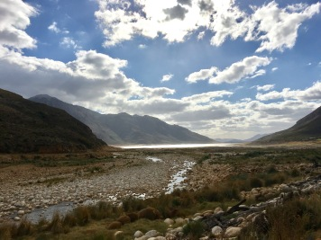 A rather empty Bergriver Dam Franschoek