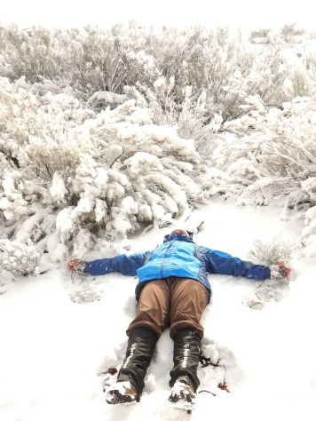 I tried to make a snow angel but it just was not deep enough