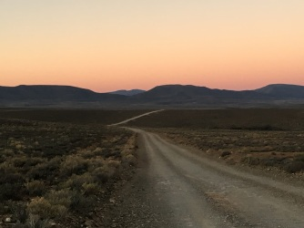 Sunset along the long Karoo Road