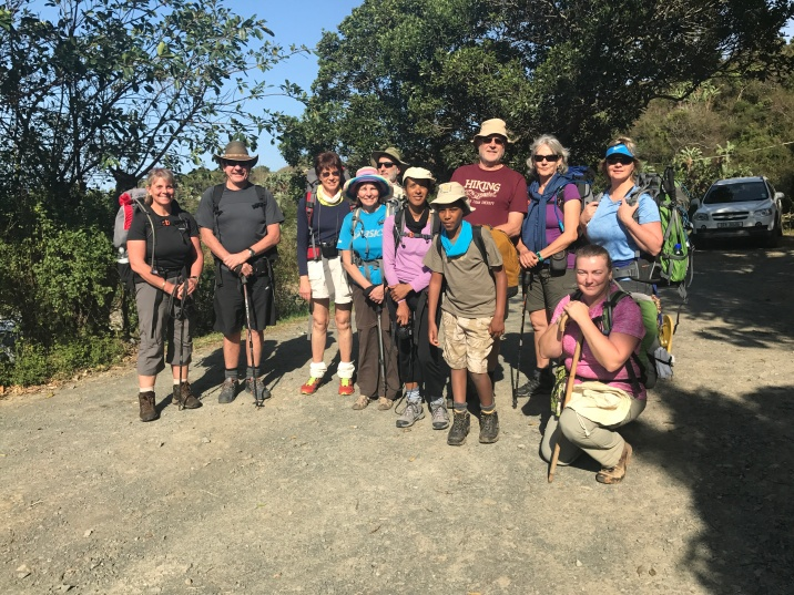 11 of us ready for the 5 day Wild Cost Hike from Port St. Johns to Coffee Bay