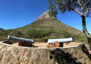 Cannons on lower Lions Head from Signal Hill side.