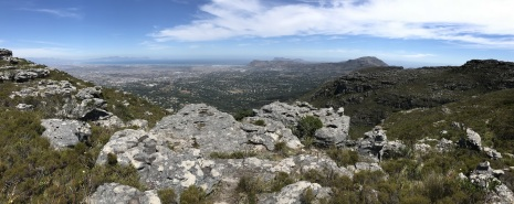 View from Smuts Walk on Table Mountain