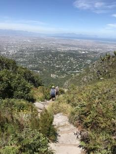 Down Smuts Walk to Skeleton Gorge