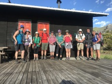 Hiking Group at Shamrock Hut on the Hottentots Holland Trail