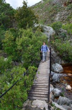 crossing the river - Perdekop Trail