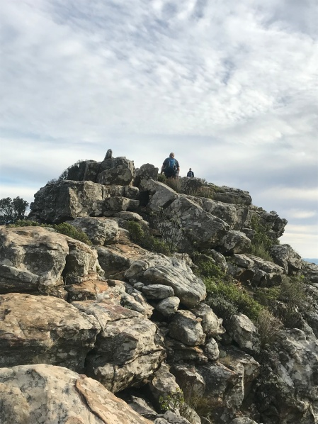 Heading up to Oppelskop Ruins