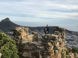 Oppelskop Ruin looking down over Cape Town