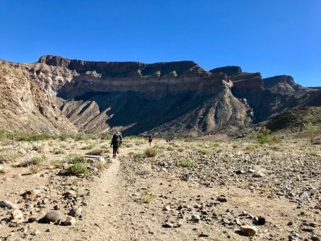 Long stretches of trail on the Fish River Trail