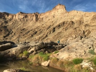 Day 2 of the Fish River Canyon over rocks, boulders and soft sand