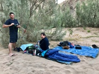 Sleeping under the start on the Fish River Canyon