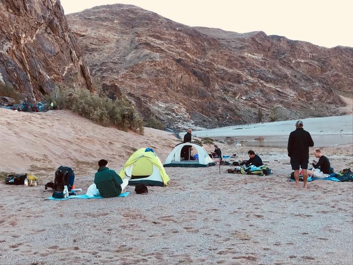 Bikini Beach Camp site on Fish River