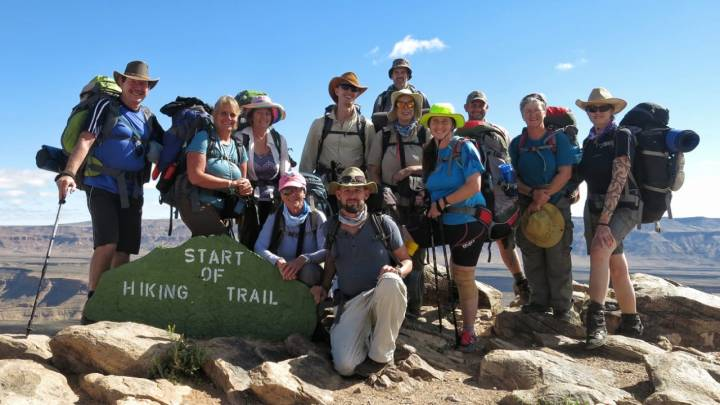 Thanks to this awesome group who hiked the Fish River Canyon with me.
