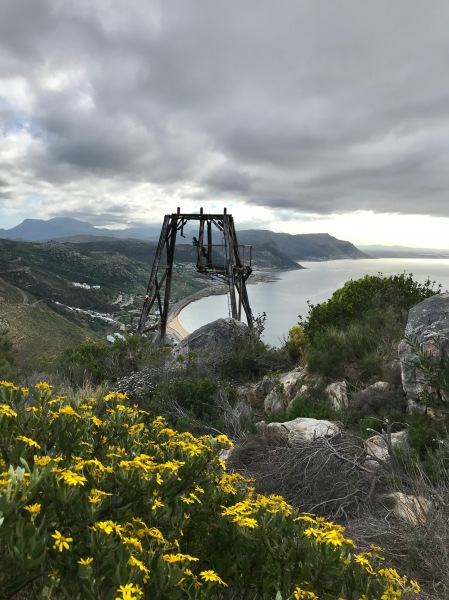 History of the Skilift pylons or aerial-ropeway pylons in Simons Town