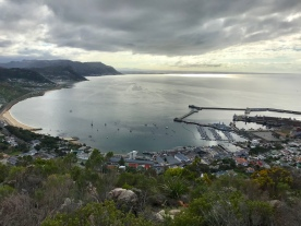 At the top of Signal School Steps overlooking Simon's Town