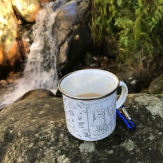 Newlands Forest with kids drinking waterfall coffee