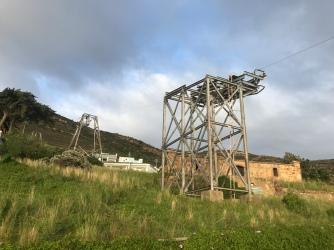 Skiline or ropeway pylons in Simons Town