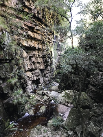 Hells Gate in Orange Kloof -looking away from waterfall