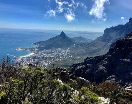 View over Cape Town from Tranquility Cracks